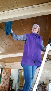 Joy another local lady helped wash the walls & ceiling 4 times to get them clean. she was helped by other local ladies
