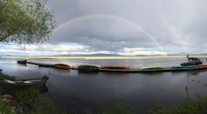 Rainbow over the dock